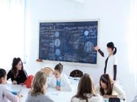 Studenti in Aula nell'università in Romania