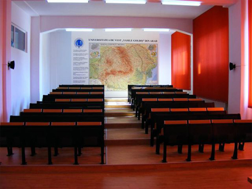 Aula nell'università in romania