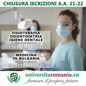 Corsi di laurea odontoiatria, fisioterapia, medicina, igiene dentale